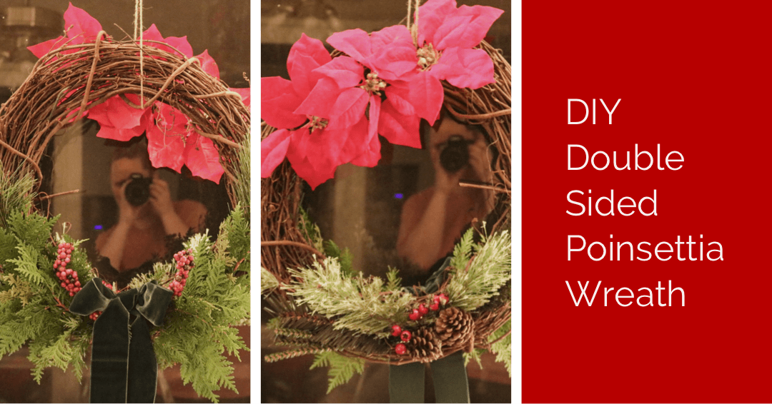 DIY Double Sided Poinsettia Wreath