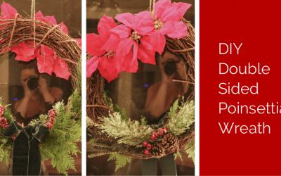 DIY Double Sided Poinsettia Wreath
