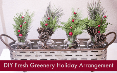 DIY Fresh Greenery Holiday Arrangement