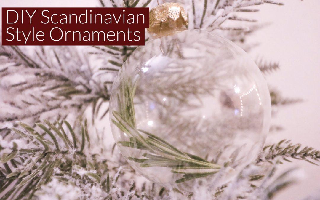 DIY Scandinavian Style Ornaments