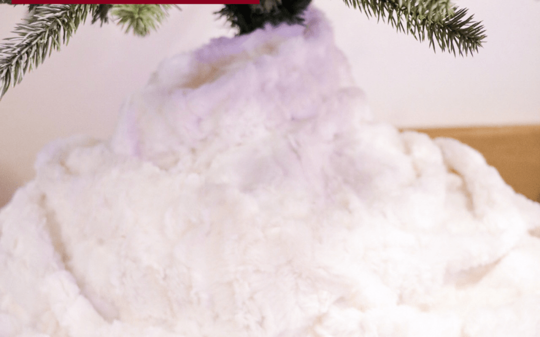 The Easiest DIY Faux Fur Tree Skirt