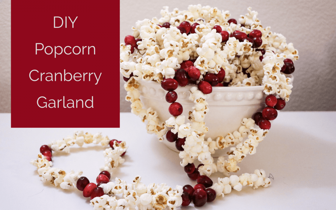 DIY Popcorn Cranberry Garland